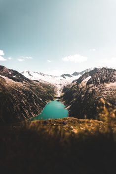 Reservoir surrounded by Mountains in Austria.