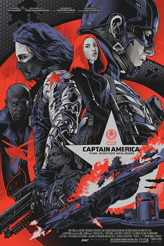 Captain America: Winter Soldier screenprint