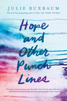 Hope and Other Punchlines cover design by Connie Gabbert (Delacorte Press / 2019)