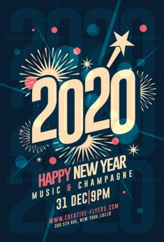 New Year Flyer PSD Template