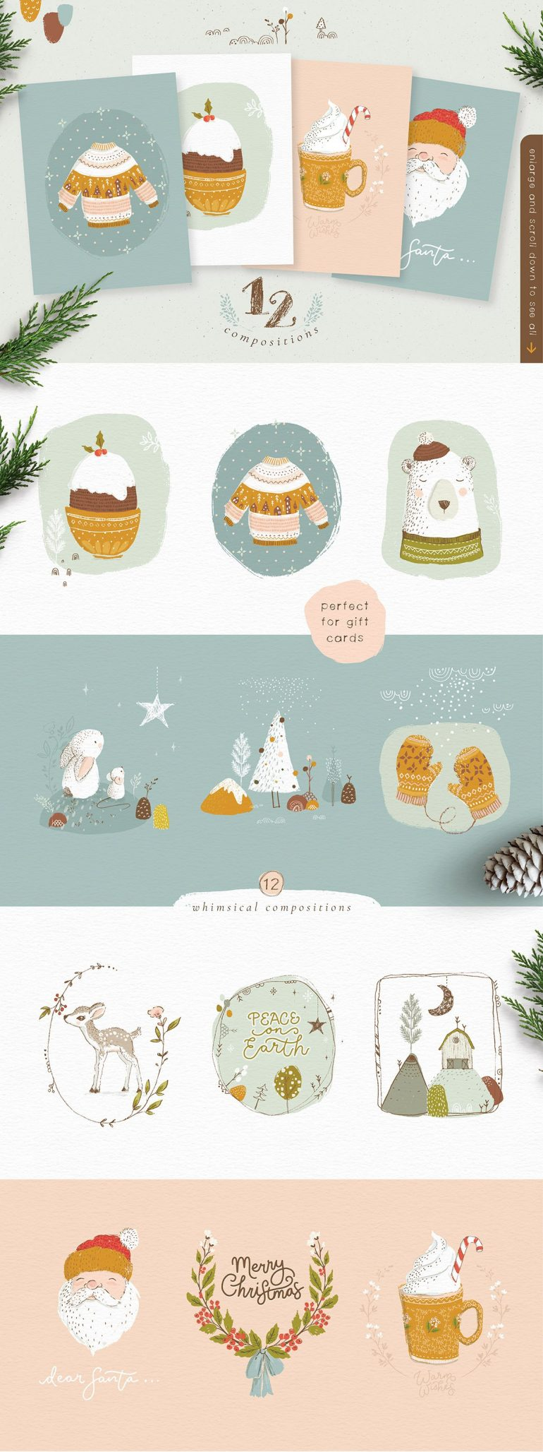Rustic Christmas Collection ~ Illustrations