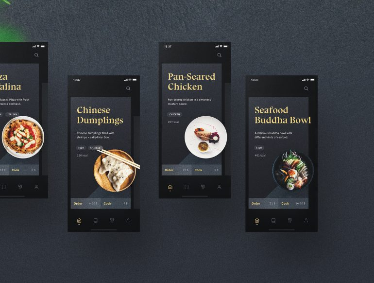 Sheek Food iOS UI Kit
