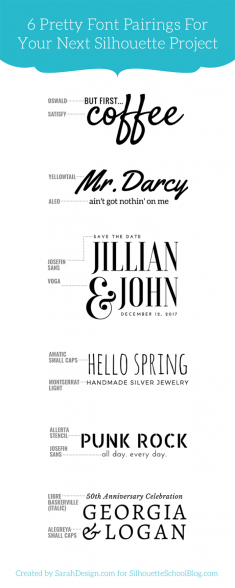 #1 Tip for Perfectly Pairing Fonts for Your Silhouette Projects (And 6 Perfect Matches)