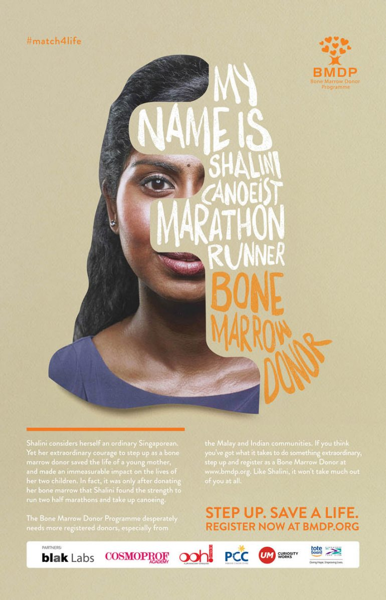 Blak Labs Singapore matches complete strangers in a life-saving recruitment campaign for BMDP