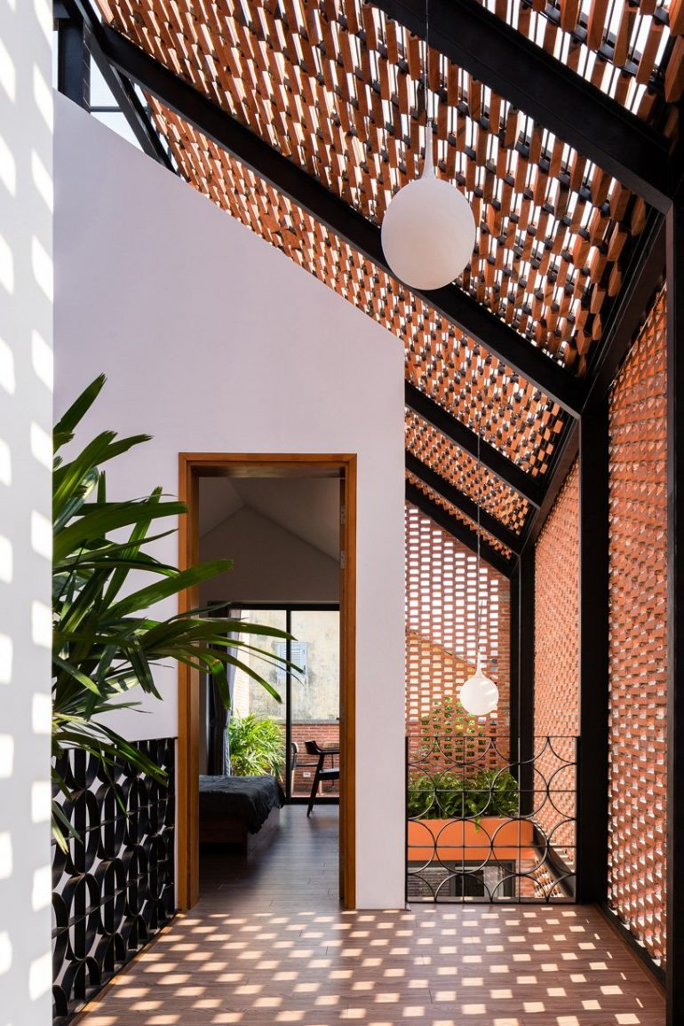 Block Architects Encloses House in Vietnam with Patterned Brick Shell