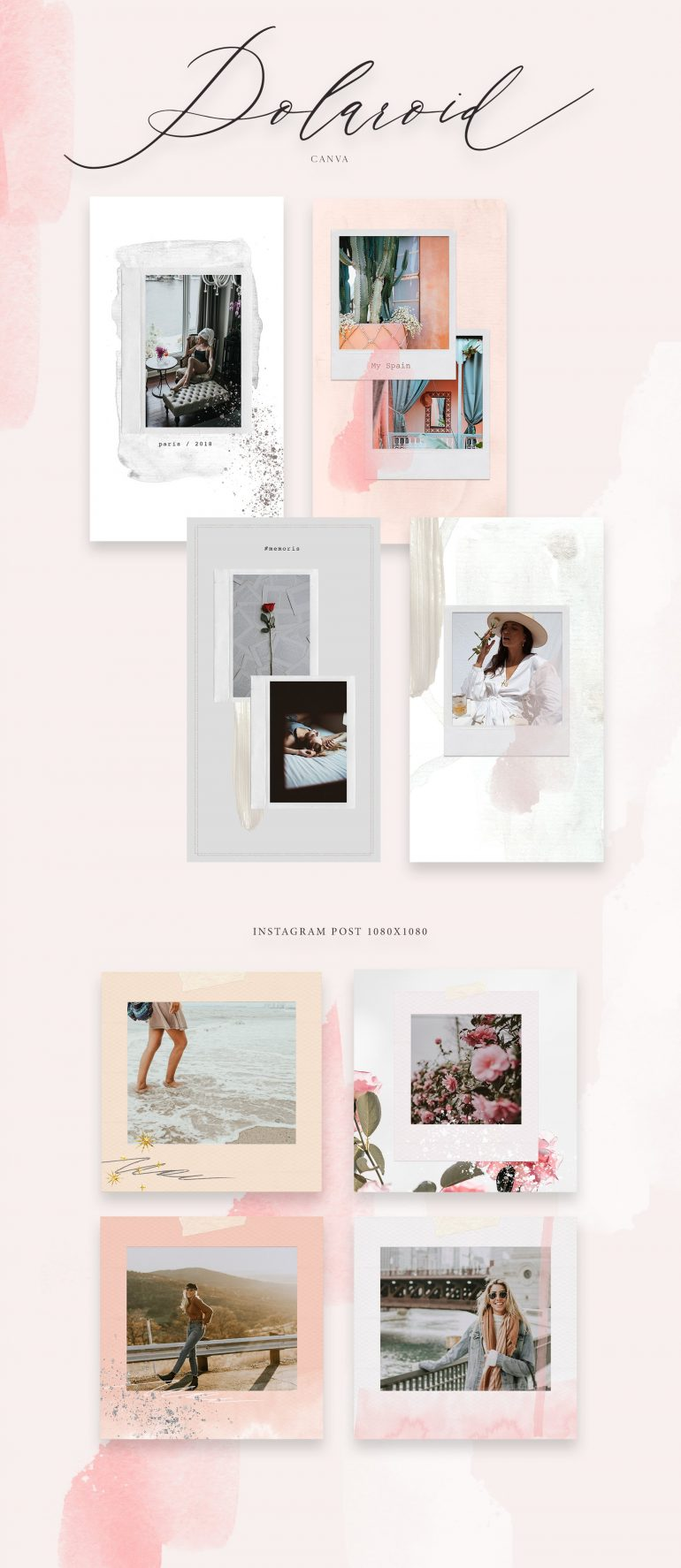 Canva templates for bloggers ~ Instagram Templates