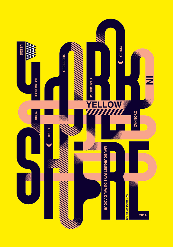Graphic Design: Host of top designers reimagine the Yellow Jersey Yorkshire style