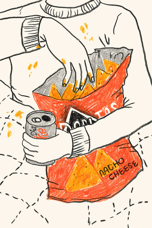 Series of illustrations to accompany a story on Man Repeller about vices