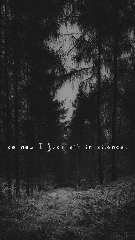 So Now I Just Sit In Silence.