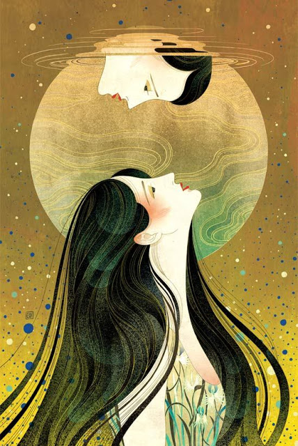 'Waiting On A Bright Moon' by Victo Ngai
