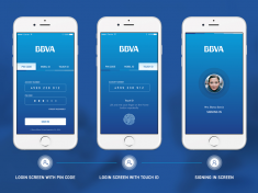 BBVA Banking App Login Screen by Orkun Buran