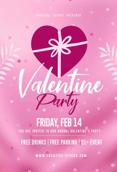Free Valentines Day Flyer Template – Creative Flyers