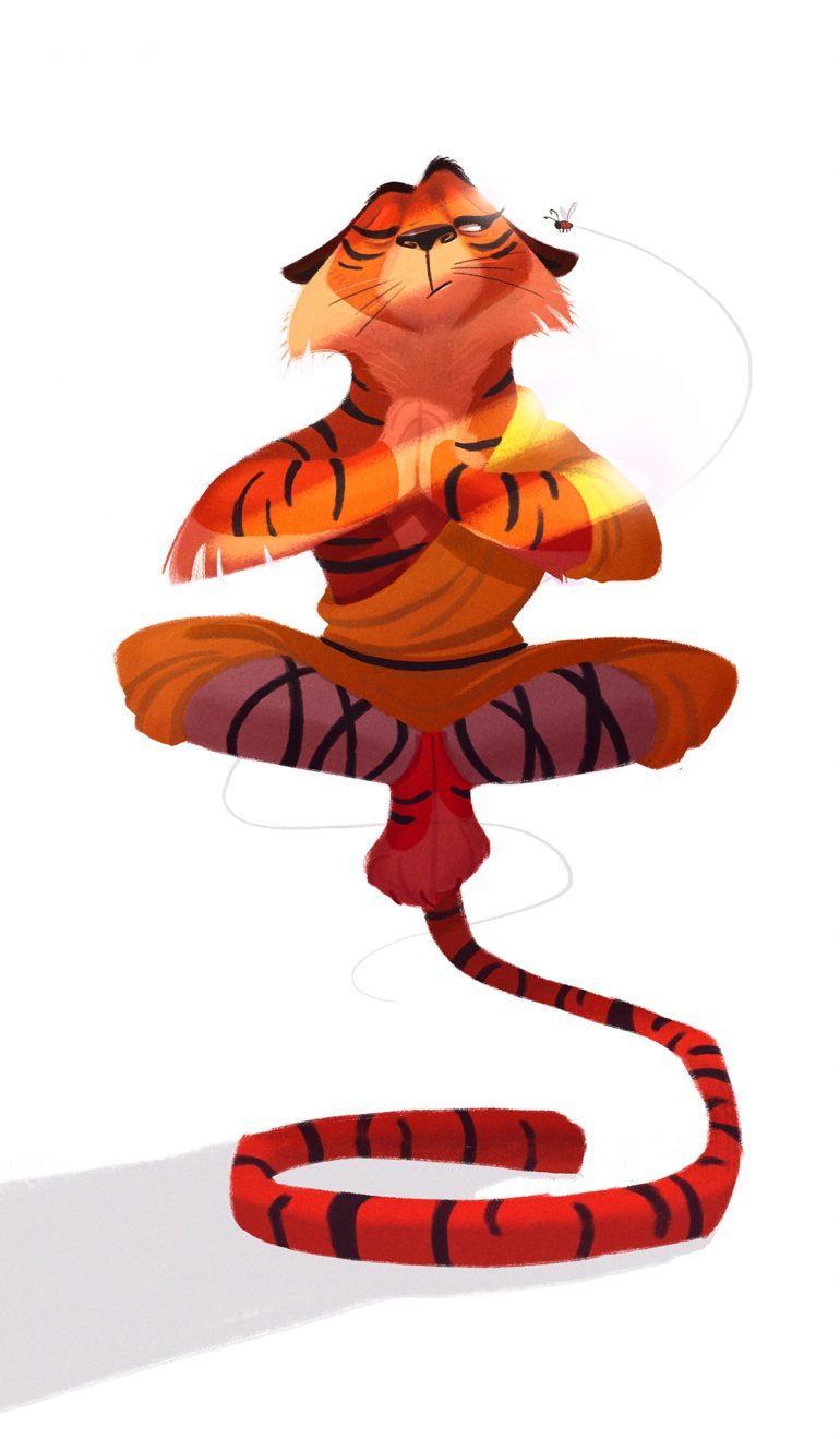 Shaolin Monk – Monthly character design challenge