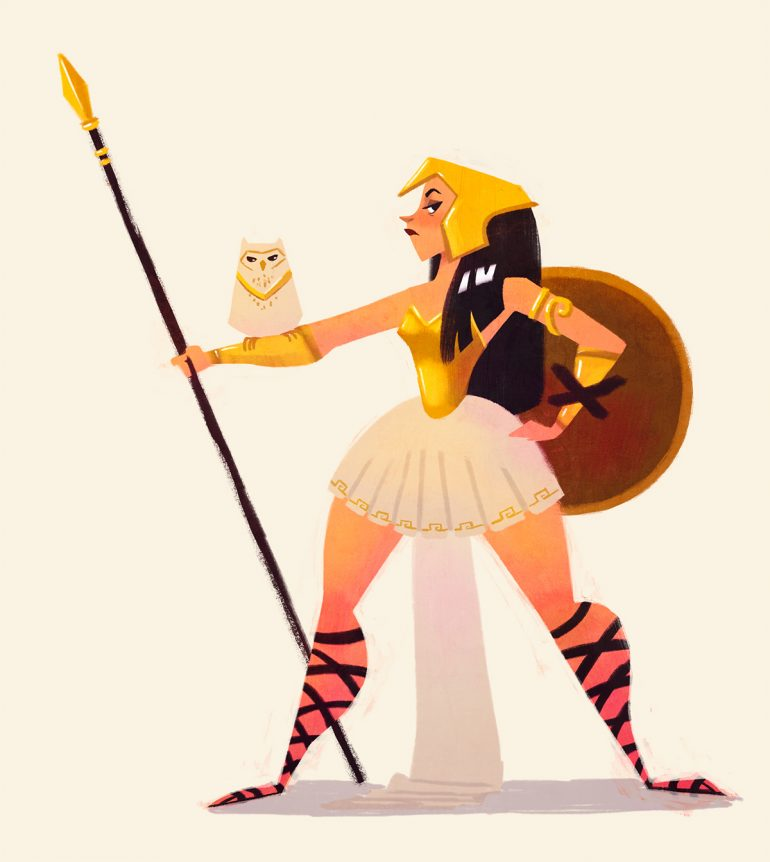 Olympian Gods – Monthly character design challenge