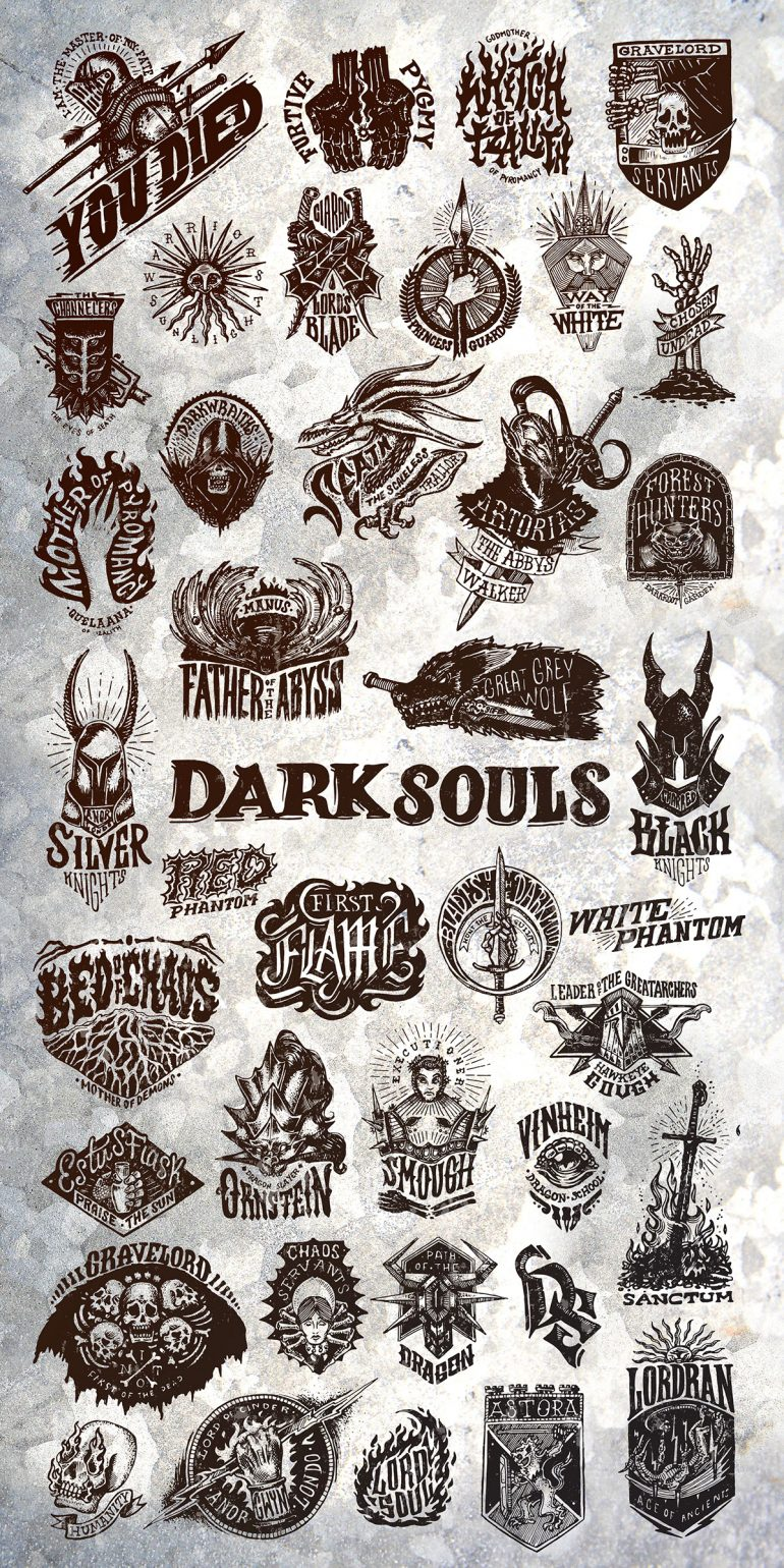 Dark Souls Logo Collection