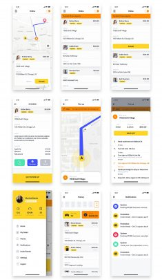 Driver Booking UI Kit for Taxi