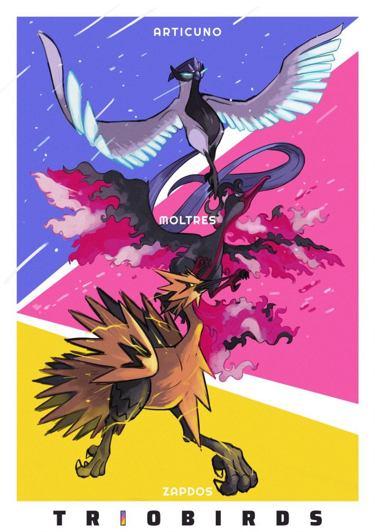 GALARIAN TRIO BIRDS by zacharybla
