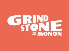Grindstone on the Monon Logo by Ross Shafer