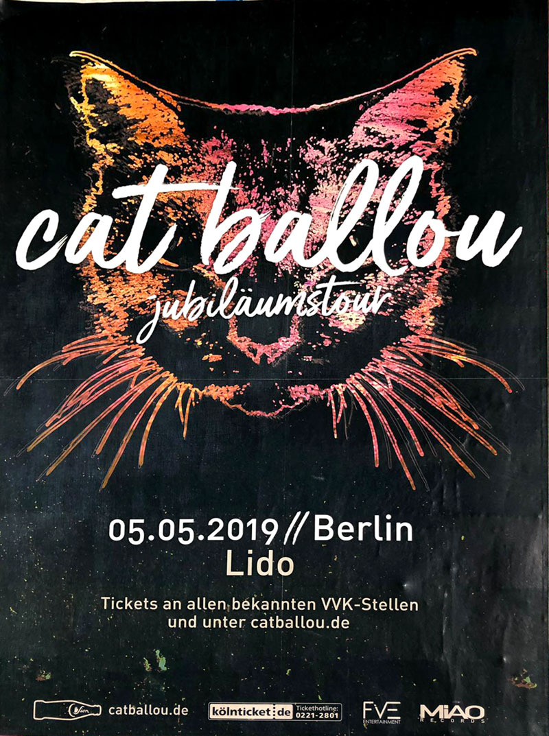 Cat Ballou at Lido – found in Kreuzberg