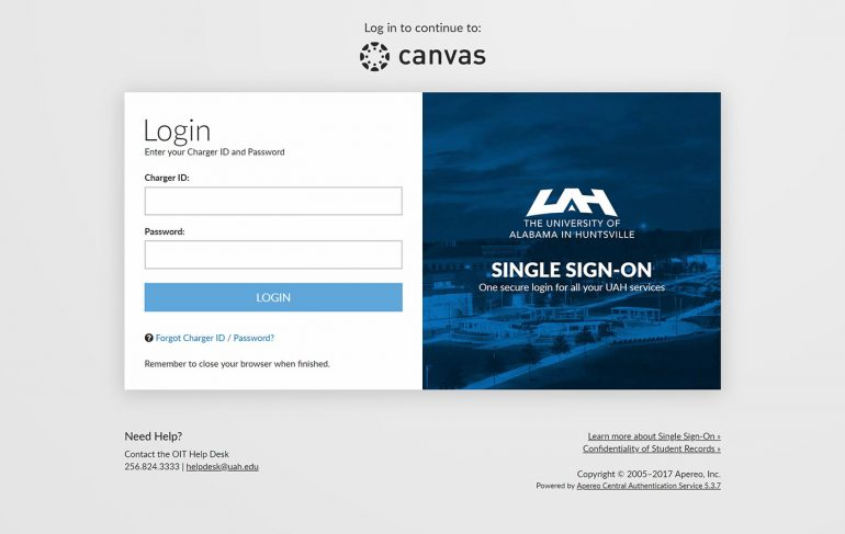 UAH Single Sign On Redesign