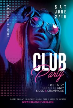 Free PSD Flyers – Night Club Template
