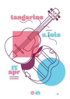 Gig Poster for De Vega Fabriek featuring Tangerine and S. Lois