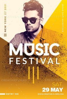 Customizable Music Festival Poster Templates