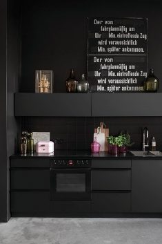 80 Black Kitchen Creative Designs