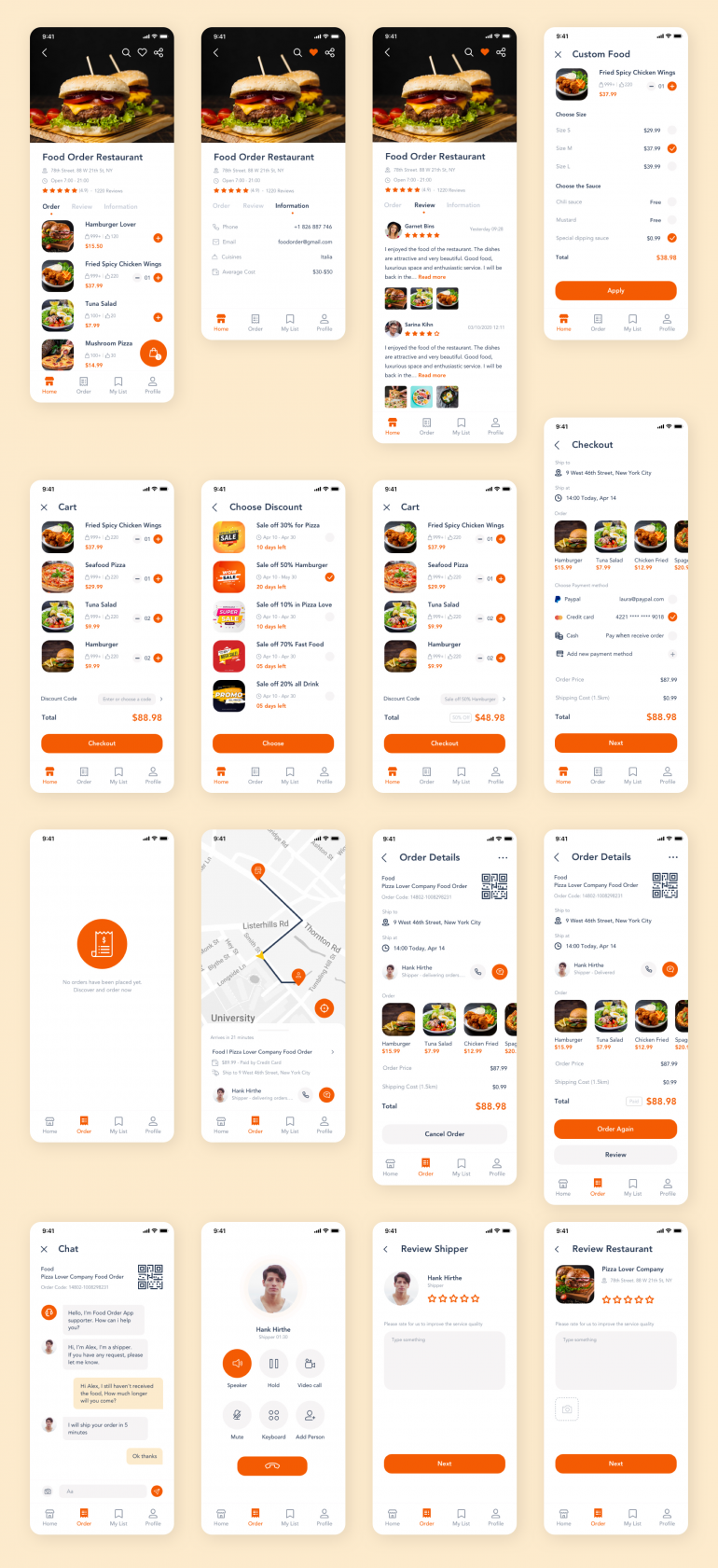 Food Delivery App Template Ui Kit