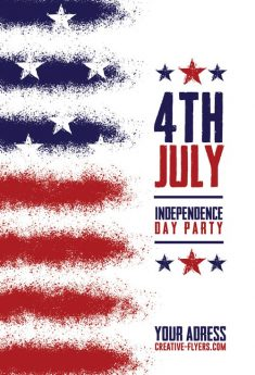 Free Flyer Psd – Independence Day