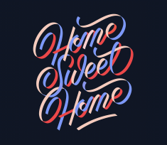 Home Sweet Home — Print design