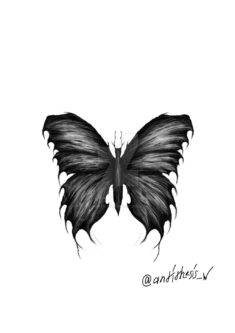 Black and White Butterfly Tattoo