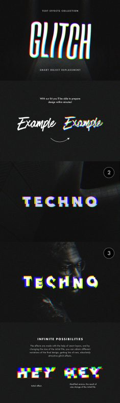 Glitch Text Effects Collection