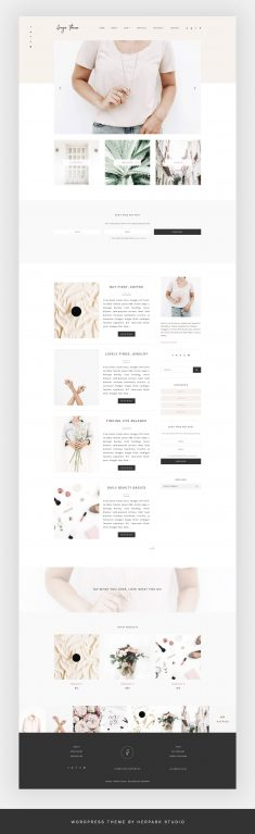 Grazie – Blog + eCommerce Theme | Creative WordPress Blog Themes