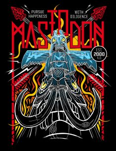 Mastodon merch art