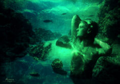 The underwater life of Lee Miller Photo art by ZOUAN KOURTIS