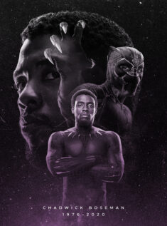 Black Panther tribute poster by rahalarts