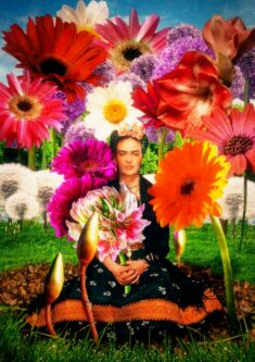 Frida Kahlo's Flower Garden Photo art by Zouan Kourtis