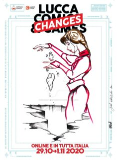 #LuccaChaNGes Lucca Comics poster contest by ingrid orlandozonart