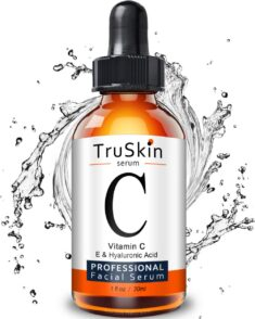TruSkin Vitamin C Serum for Face with Hyaluronic Acid, Vitamin E, Witch Hazel, 1 fl oz