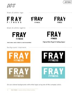 Fray Fitness Branding Guide