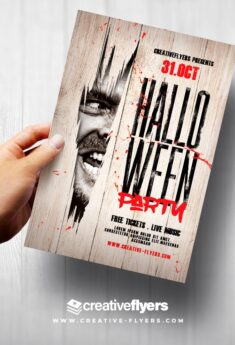 Halloween Flyer Template – Adobe Photoshop Files