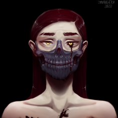 skull girl by Synthgetti