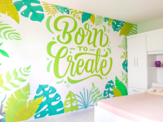 Mural BORN TO CREATE
