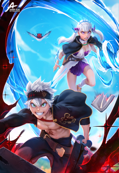 Black Clover // Asta and Noelle by JohnnyAzad