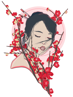 Cherry Blossomed by AleesArts