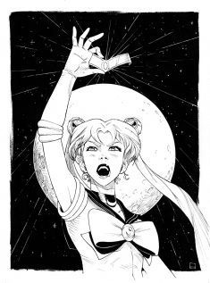 Sailor Moon – inks by Zerahoc