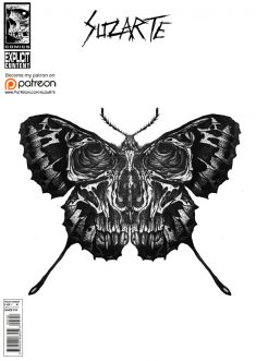 Butterfly skull by suzarte01