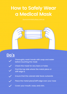 How to safely wear a medical mask