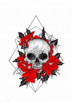 The Skull III Red Version by MisiasArt